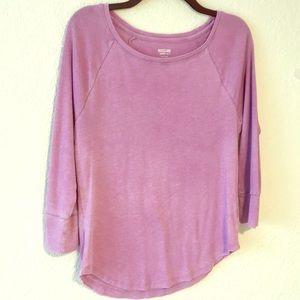 Black or Purple 3/4 sleeve Shirts